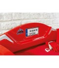 Кровать машина BITURBO (без матраса), матрас 90х195см, красная купить с доставкой