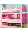 SL PRINCESS Кровать 2-х ярусная (розовая, без матраса), матрас 90х200см купить