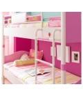 SL PRINCESS Кровать 2-х ярусная (розовая, без матраса), матрас 90х200см купить в интернет-магазине