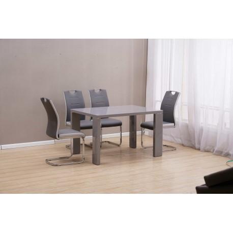 Стол обеденный DT517-1 Серый глянец