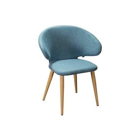 Кресло Askold Сканди Блю Арт Натур на металлокаркасе