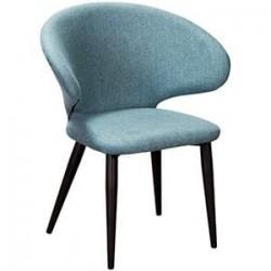 Кресло Askold Сканди Блю Арт Черный на металлокаркасе