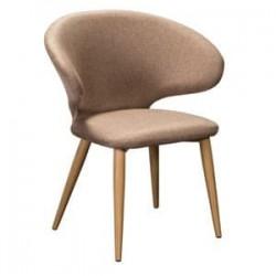 Кресло Askold Сканди Браун Натур на металлокаркасе