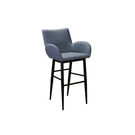 Кресло Henrik Сканди Блю Арт барное на металлокаркасе