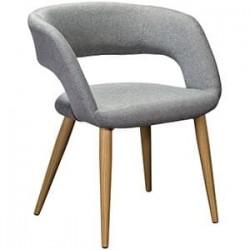 Кресло Walter Сканди Грей Натур на металлокаркасе