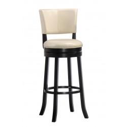 Барный крутящийся стул LMU-9090 кремовый