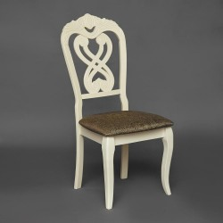 Стул с мягким сиденьем «Андромеда» (Andromeda) (Ivory white (слоновая кость))