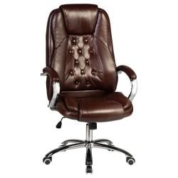 Офисное кресло для руководителей DOBRIN MILLARD LMR-116B, коричневое