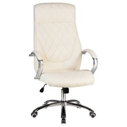 Офисное кресло для руководителей DOBRIN BENJAMIN LMR-117B, кремовое