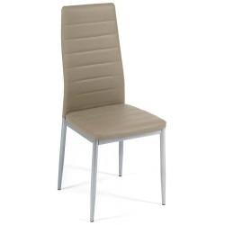 Стул Easy Chair (mod. 24), пепельно-коричневый, ножки серые