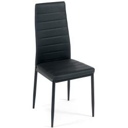 Стул Easy Chair (mod. 24), черный, ножки черные