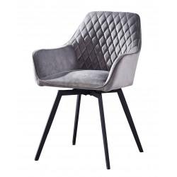 Кресло DC79001R поворотное велюр серый