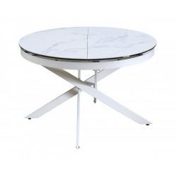 Стол TRENTO 120 HIGH GLOSS STATUARIO / белый каркас