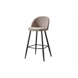 Барный стул 373B бежевый/черный