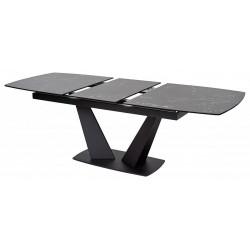 Стол ACUTO2 170 NERO KL-116 черный мрамор итал. керамика/ черный каркас