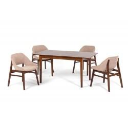 Комплект обеденный (стол раздвижной MANUKAN, арт. LWM(SF)12808S53-E300 + 4 кресла LANGKAWI, арт. LW2001)