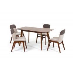 Комплект обеденный (стол раздвижной SANDAKAN, арт. LWM(SR)12758HL32-E300 + 4 кресла BANGI, арт. LW1813)