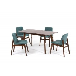 Комплект обеденный (стол раздвижной SANDAKAN, арт. LWM(SR)12758HL32-E300 + 4 кресла KAJANG, арт. LW1817)