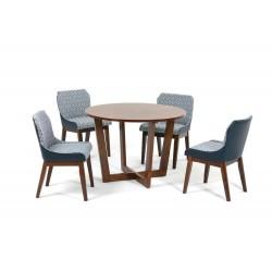Комплект обеденный (стол BORNEO, арт. LWM(CF)11115(X8)32 + 4 кресла REBAK, арт. LW1810)