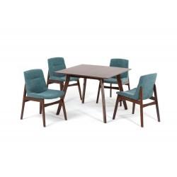 Комплект обеденный (стол SINGA, арт. LWM(SR)10108HJ32 + 4 кресла KAJANG, арт. LW1817)