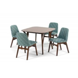 Комплект обеденный (стол TERONG, арт. LWM(TR)10108HLV32 + 4 кресла TIOMAN, арт. LW2000)