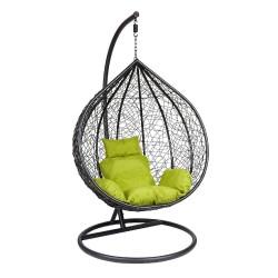 Подвесное кресло Z-12 (цвет black, подушка green)