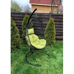 Подвесное кресло Z-02, черный / зеленый