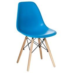 Стул обеденный DOBRIN DSW LMZL-PP638, ножки светлый бук, голубой