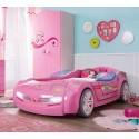 Кровать машина Cilek Biturbo розовая купить
