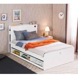 Выдвижное спальное место c полками Cilek White 190 на 90 см