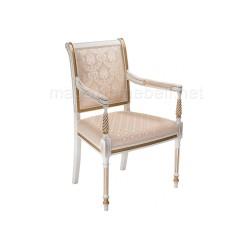 Кресло Рембрандт молочный с золотой патиной