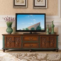 ТВ-тумба Cilan, коричневый с зеленым