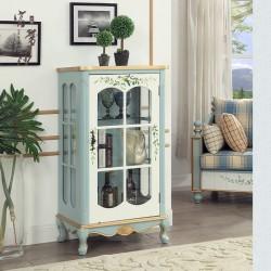 Витрина с одной дверью Fleur chantante, Голубая