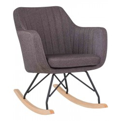 Кресло-качалка DOBRIN KIARA LM-3257R (серая ткань)