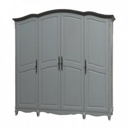 Шкаф 4-х дверный F6684(H03+M01)