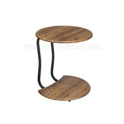 Журнальный столик Андромеда черный матовый / старое дерево
