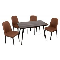Комплект обеденный (стол и 4 стула), TB330+MC-15