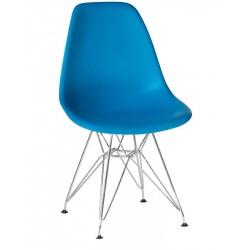 Стул обеденный DOBRIN DSR LMZL-PP638A, ножки хром, голубой