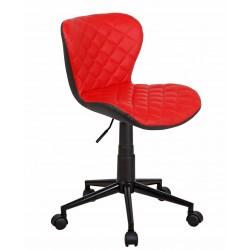 Полубарный стул БРЕНД WX-970 красный/черный