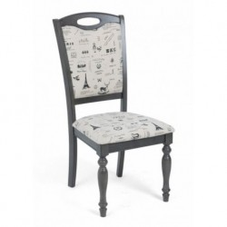 Стул LT C17443 DARK GREY-G521/ FABRIC FB62 PARIS М-City