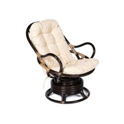 """Кресло вращающееся """"FLORES"""" 5005 с подушкой, античный черно-коричневый"""