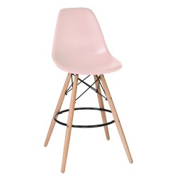 Барный стул LMZL-PP638G светло-розовый