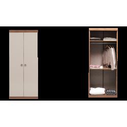 Шкаф 2-дверный MISTRAL Enza Home орех/бежевый