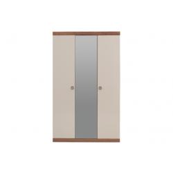 Шкаф 3-дверный MISTRAL Enza Home орех/бежевый