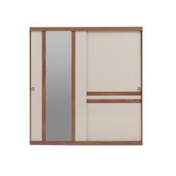 Шкаф-купе MISTRAL Enza Home (210 см) орех/бежевый
