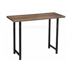 Консольный столик Пегас дуб велингтон/ черный матовый