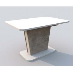 Стол обеденный CINDY, Белый/Бетон