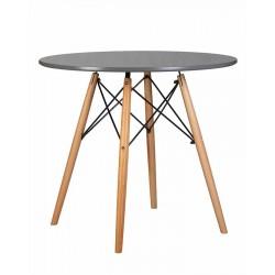 Стол обеденный DOBRIN CHELSEA`80 LMZL-TD108 (ножки светлый бук, столешница тёмно-серый)