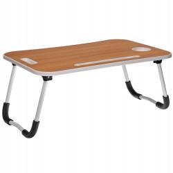 Стол складной с подстаканником «ЛАЙТ», св. дерево, белый