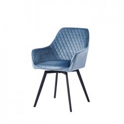 Кресло DC79001R поворотное велюр серо-голубой